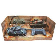 2 шт. маленький детский игрушечный автомобиль двойной боевой танк автомобиль с дистанционным управлением автомобиль анти-падение столкновения детская обучающая игрушка Rc автомобиль