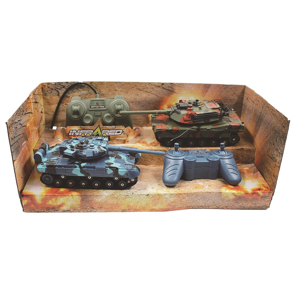 2PCS Small Children's Toy Car Double Battle Tank Car Remote Control Car Anti-fall Collision Children's Educational Toy Rc Car