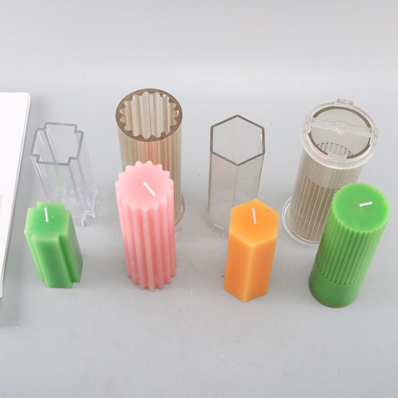 Milisten 1pc Cylindrical Candle Mould Acrylic Candle Shaper Handmade Candle Mold DIY Candle Tool Handicraft Supply for Making Candles