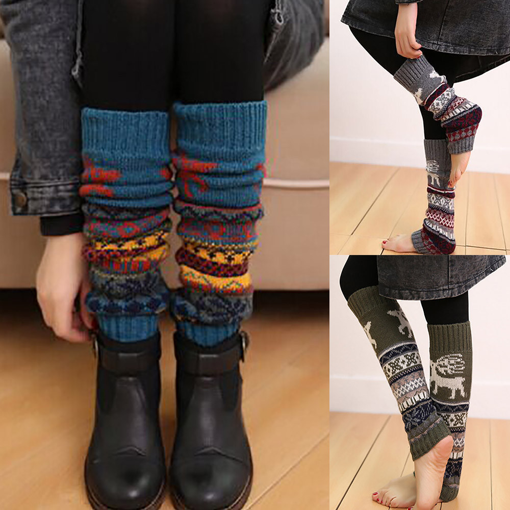 Теплые женские гетры, зимние вязаные гетры, теплые гетры, гетры, гетры с манжетами, длинные носки, 20FEB11|Гетры|   | АлиЭкспресс
