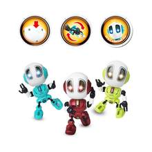 RC Robots Toys Mini Talking Smart Robot For Kids Educational Toy For Children Humanoid Robot Toy Sense Inductive RC Robot(China)