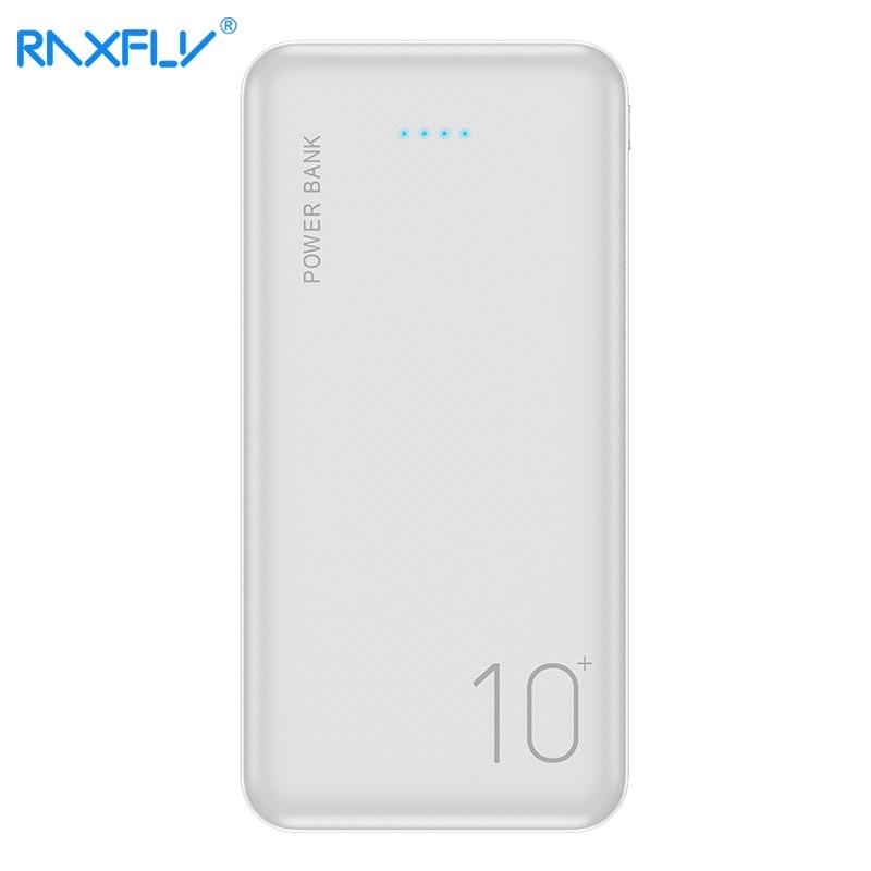 Raxfly 10000 mah banco de potência para iphone xiao mi bateria externa movil powerbank portátil carregador de energia móvel poverbank