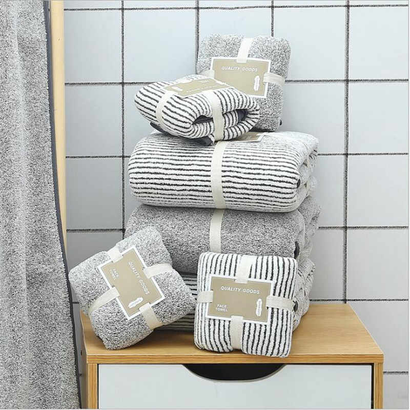 70X140Cm Bamboe Houtskool Coral Fluwelen Badhanddoek Voor Volwassen Zachte Absorberende Bamboe Koolstofvezel Huishoudelijke Badkamer Handdoek sets