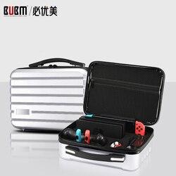 Carcasa rígida BUBM para interruptor, bolsa de consola de juegos de camuflaje, bolsa de almacenaje de transporte de viaje portátil con posición de ranura para tarjetas de juego