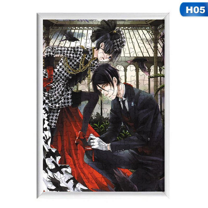 120 Pcs Anime Kuroshitsuji Black Butler Jigsaw Puzzles Assembling Toys For Adults Children Kids Games Educational Toys Gifts