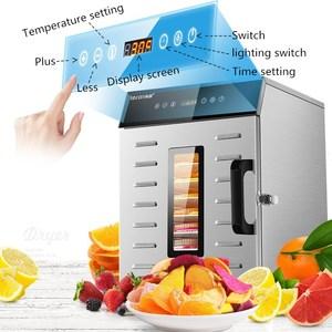 Image 4 - مجفف تجفيف الطعام آلة الفاكهة المجففة المنزلية والتجارية الذكية التي تعمل باللمس 8 layer قدرة البصرية الباب مضاءة