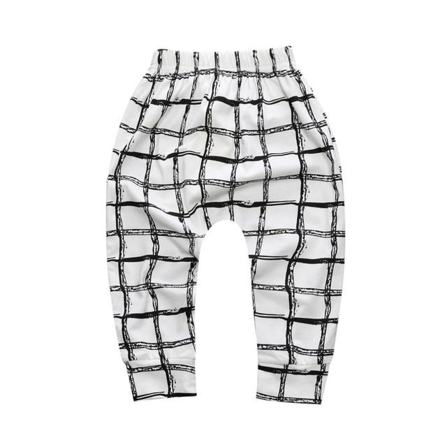 Autumn Girls Leggings Boys Harem Pants Printed Infant Long Trousers Soft Baby Sports Bottom