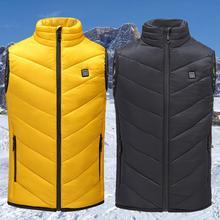 цена USB Electric Vest Heater Man Vest Woman Coat Thermal Feather Softshell Heating Jacket Vest Heater Vest Heater онлайн в 2017 году