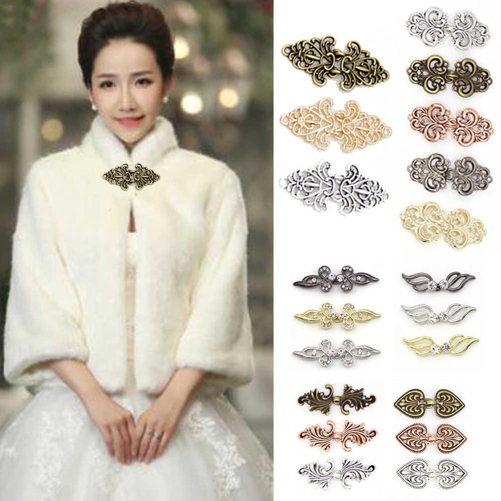 Wanita Retro Vintage Cardigan Bebek Klip Pin Sweater Selendang Blus Kerah Sweater Syal Gesper Bros Pin Perhiasan Aksesoris