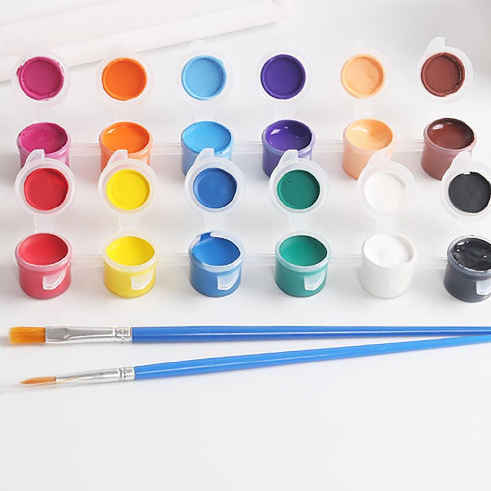 Solid 12 Watercolor Pigment Ceremics Pottery Paint Brush DIY Art Crafts Set Gift For Children