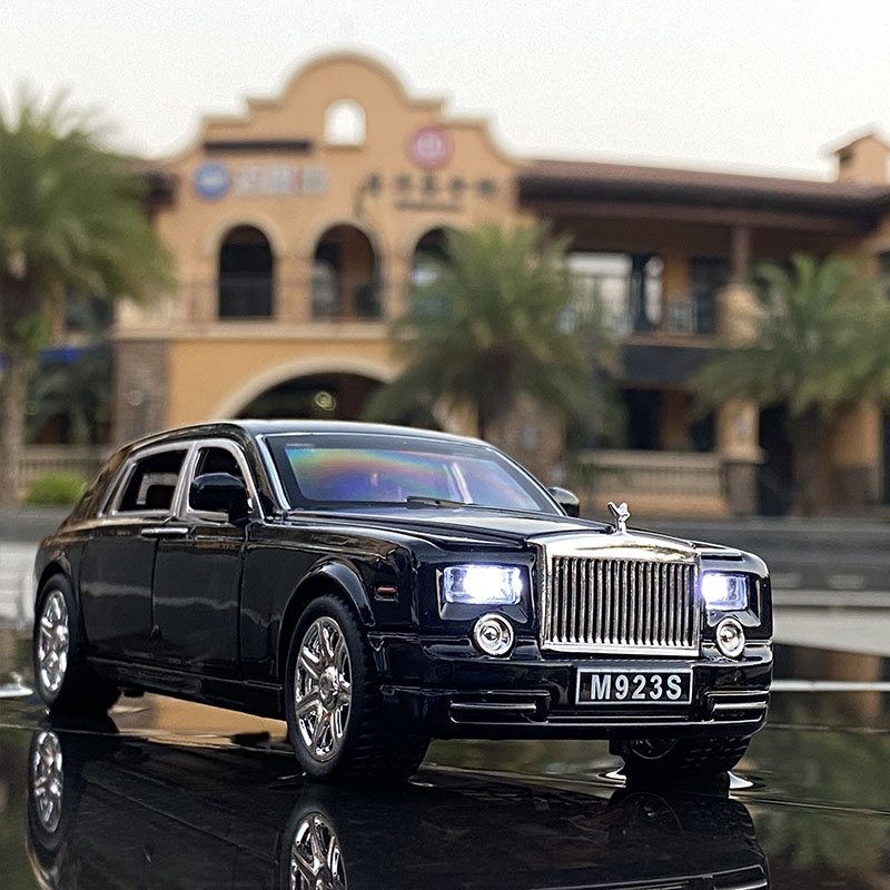 1:24 Rolls Royce Phantom Alloy Car Model Diecasts & Toy Vehicles Metal Car Model Collection Simulation Sound Light Kids Toy Gift 6