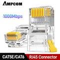 AMPCOM CAT5e/CAT6 UTP 50U RJ45 Modulare Stecker Stecker 8P8C Crimp Ende Ethernet Kabel Ethernet Stecker