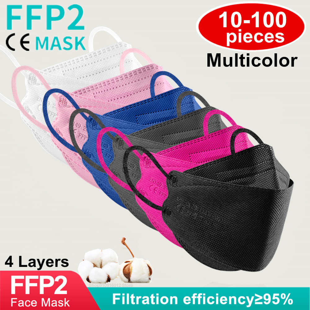 ffp2 mascarillas kn95 mask pescado Beauty Fashion ffp2mask Approved hygienic Efficient protect fish mask fpp2 masque de colores