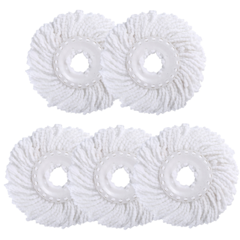 5Pcs/Lot Household Sponge Fiber Mop Head Refill Replacement Home Cleaning Tool Microfiber Floor Mop Head 360 Spin Cleaning Pad