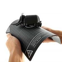 Ulepsz stal magnetyczna podstawa blachy miękka powierzchnia płyta Post do drukarki 3D taśma do druku na gorąco taśma grzewcza Non PEI MY3D