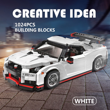 Compatible Lepinblock 20518 Moc Technic The Nismo Nissan GTR R35 Speed Racing Sport Car Set Building Blocks Bricks Model Toys