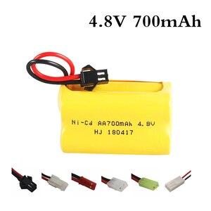 4.8v 700mah Rechargeable ni-cd aa 4.8v bateria 4.8v nicd ni cd battery pack 4.8v 800mah for RC boat model car toy(China)