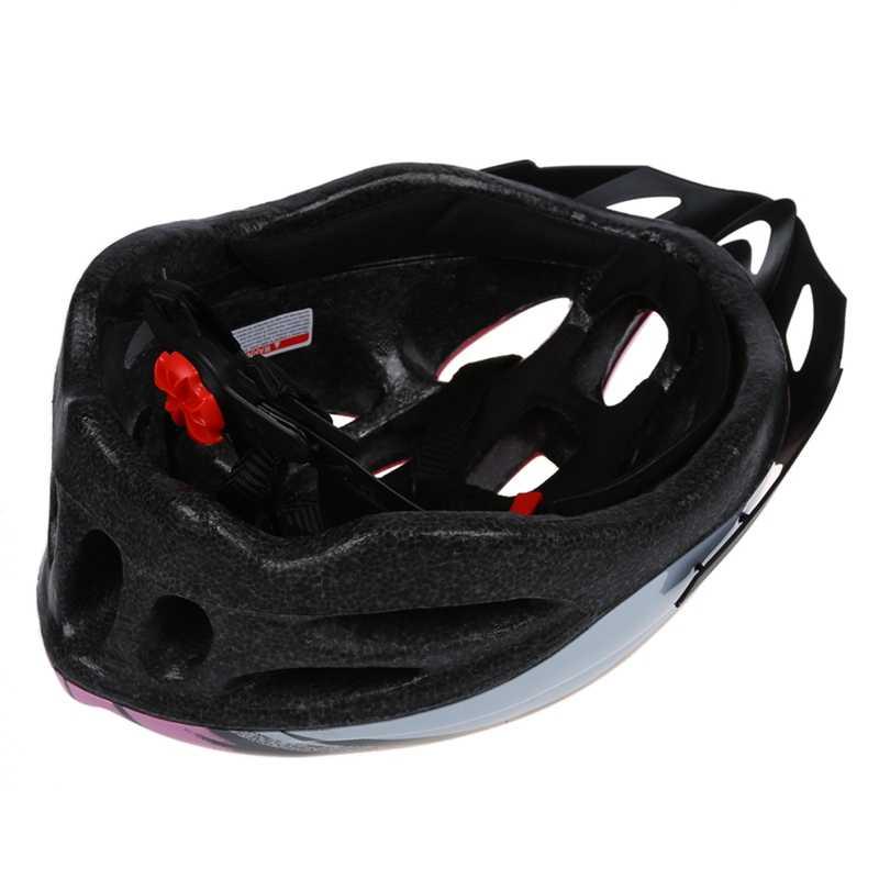 الدراجات دراجة دراجة للبالغين وسيم خوذة الكربون مع قناع الوردي محيط الرأس 54-65 سنتيمتر/رئيس العرض أدناه 16 سنتيمتر