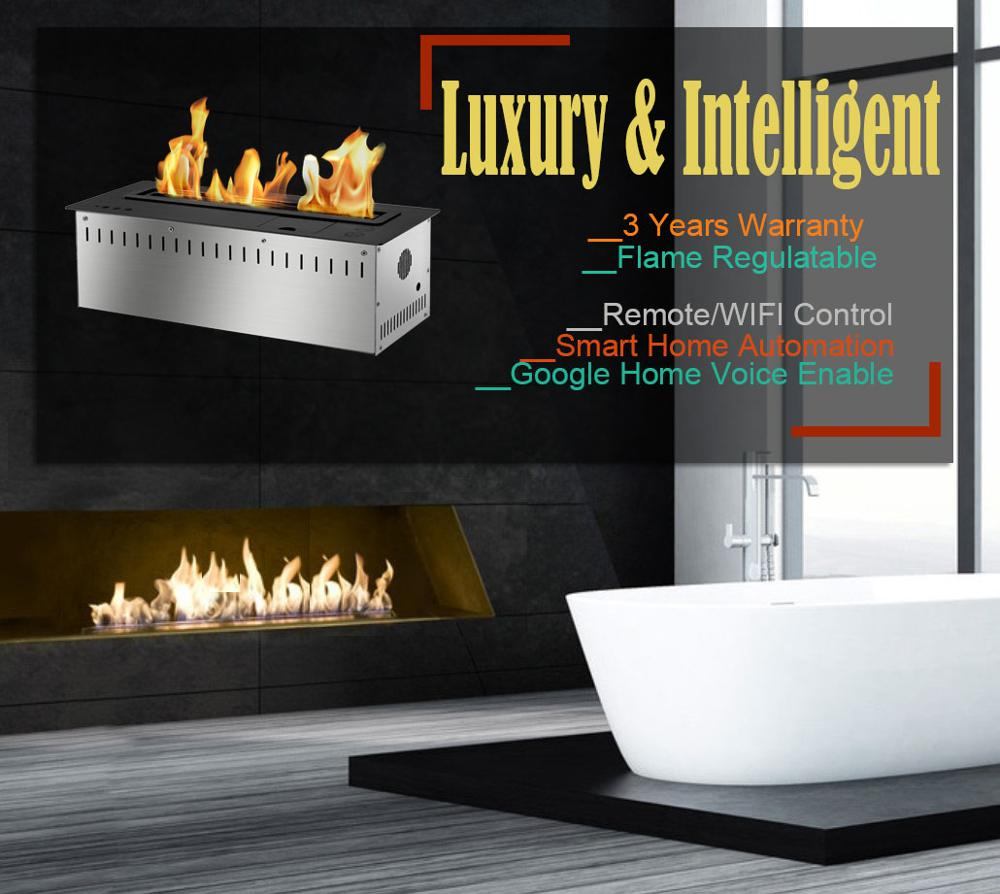 Inno Living 30 Inch Biofuel Fireplace Wall Insert Remote Wifi Control
