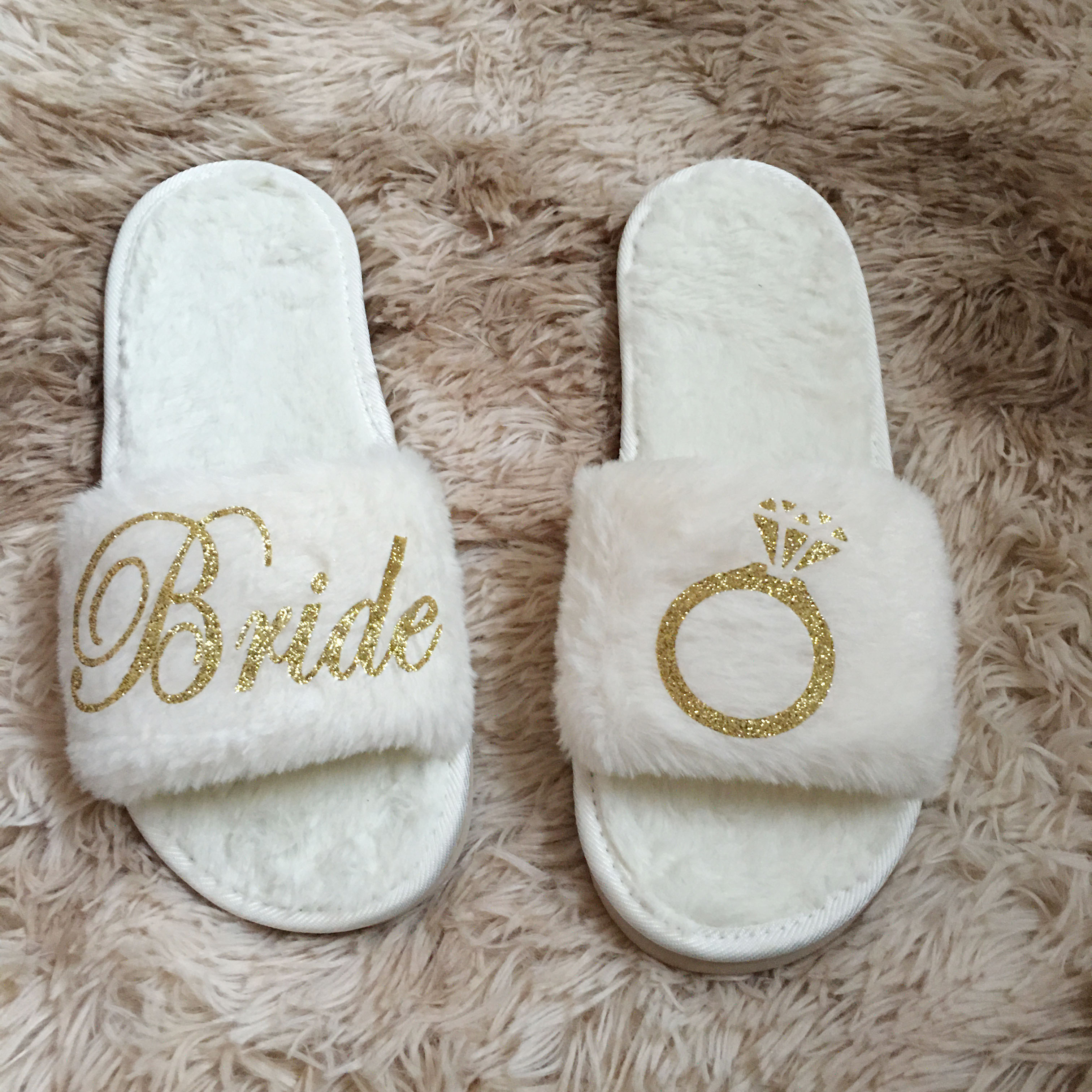 1pairs Personalized Gifts For Wedding Bride To Be Bridesmaid Slippers Birthday Anniversary Gifts