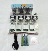 CNC Router Mach3 USB 4 Axis kit,TB6600 stepper motor driver+5 Axis usb control board 100KHZ+Nema23 57HS56 motor+24V power supply