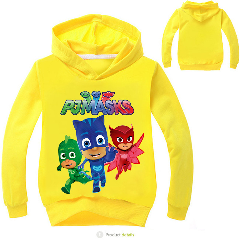 PJ Masks Boys and Girls Hoodies Cute Cartoon Print Sweater Kids Pajama Sets Cotton Children's Clothing