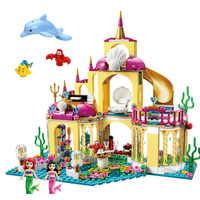 Princess Castle Building Block Bricks Mermaid Ariel Princess Elsa Anna Cinderella Belle Compatible Legoinglys Friends Girls Toys
