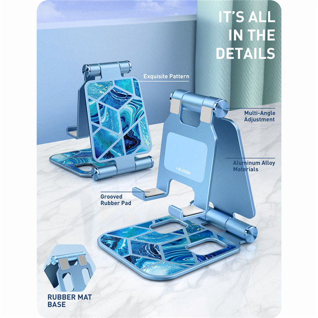 Adjustable Cell Phone Stand Holder Phone Dock Multi Angle Compatible with Smart Phone For iPhone For Android Smartphone 3