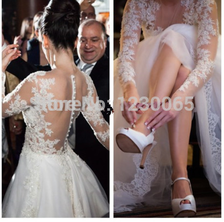 Free Shipping Custom Sexy Vestidos De Novia Weddings Events Lace Bridal Gown 2018 Appliques Lace Mother Of The Bride Dresses