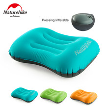 Naturehike Inflatable Air Pillow Outdoor Camping Portable Neck Pillow Travel Lumbar Cushion Soft  TPU Headrest Neck Support