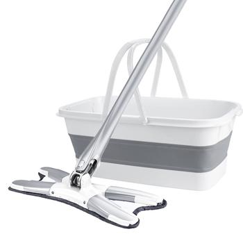 Płaski Mop z kubkiem do mycia rąk Mop Lazy Mop 360 obrotowy drewniany Mop podłogowy z podkładką z mikrofibry urządzenia do oczyszczania gospodarstwa domowego tanie i dobre opinie JULY S JJHW CN (pochodzenie) Mikrofibra 10 sekund Do przenoszenia NONE Z 1 głowicą do mopa 15 minut 60 -70 301-500 ml