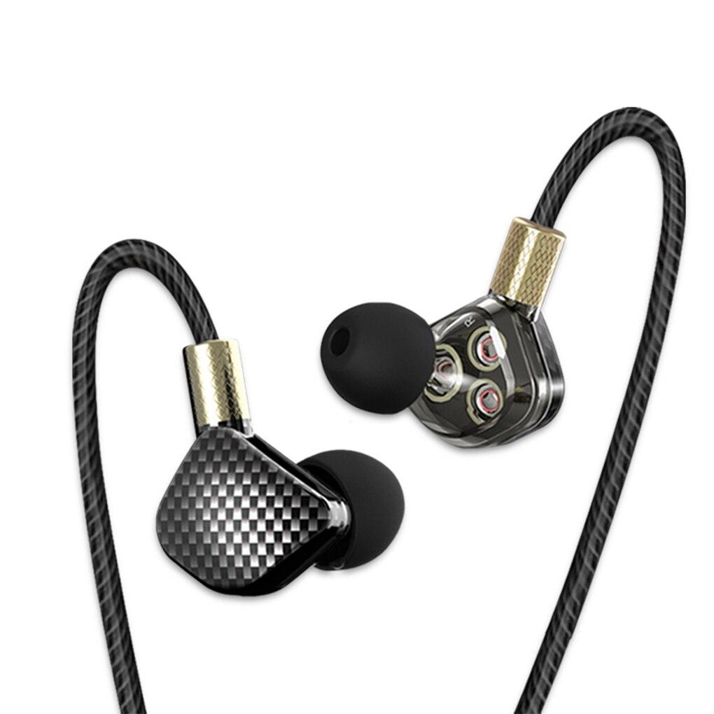 QKZ KD6 In Ear Earphone Heavy Bass 6 Dynamic Driver Unit Headsets Stereo Sports HIFI Earphones Earbuds