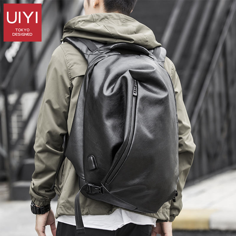 UIYI Brand Men's PVC Waterproof Prevent Theft Backpack Fashion Casual Business Travel Charging School Student Zipper Men Backpac