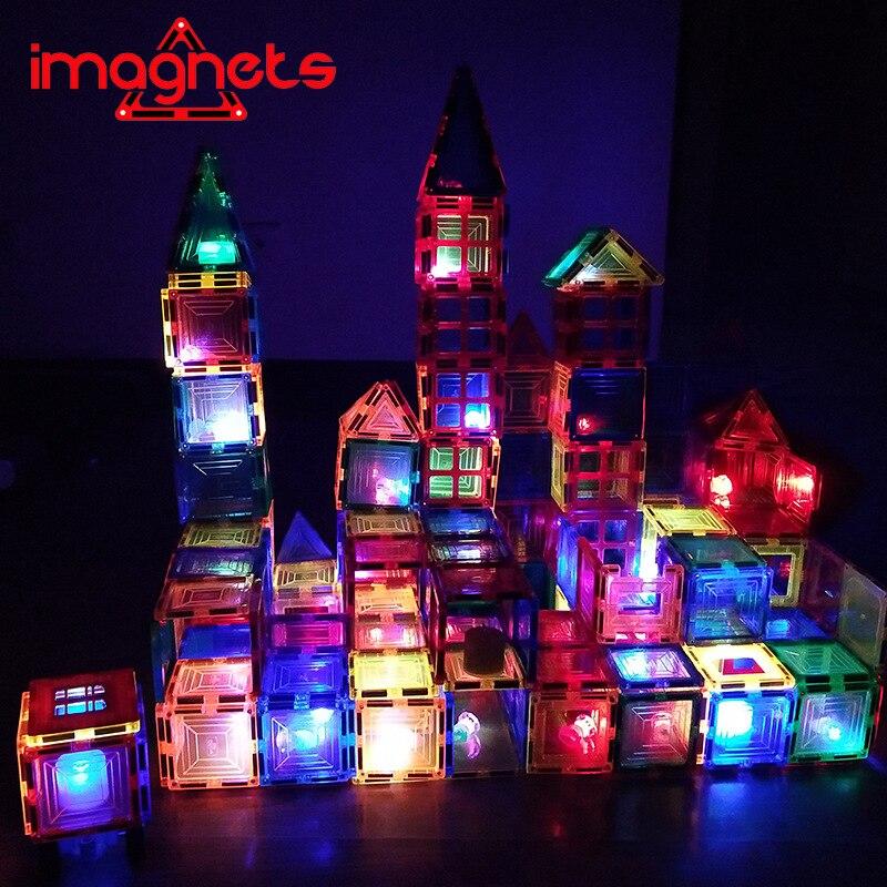Iímãs janela folha magnética crianças brinquedo educacional translúcido blocos de construção magnético montado ímã presente natal