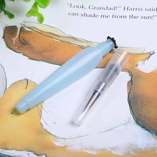 Large water brush paint brush lms Waterbrush Water Tank Calligraphy Brush Pen Watercolor AHB035 3