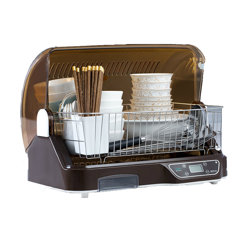 48L Vertical Disinfection Cabinet Anion Ozone UV Sterilizer Electronic Dish Dryer Household Mini Kitchen Tableware Organizer Box