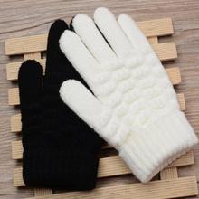 Dziecięce zimowe ciepłe rękawiczki dzianinowe Stretch rękawiczki dziecięce jednokolorowe dziecięce dziewczęce chłopięce rękawiczki pełne rękawiczki tanie tanio I LOVE DADDY MUMMY CN (pochodzenie) Poliester knitting Cartoon baby Unisex SP468z 15X9cm 8-15 years old