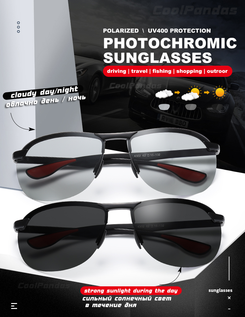 Hd3d1586135e741ec9ee66c54997b02e20 2020 Brand Photochromic Men Sunglasses Polarized Glasses Day Night Vision Driving Sun Glasses For Male Oculos De Sol Masculino