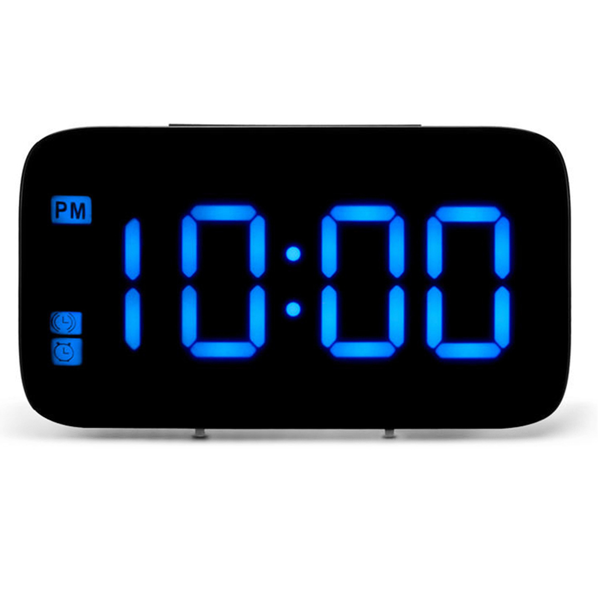 LED Mirror Alarm Clock Digital Snooze Table Clock Wake Up Light Electronic Large Time Blue/Green/Red Display Home Decoration