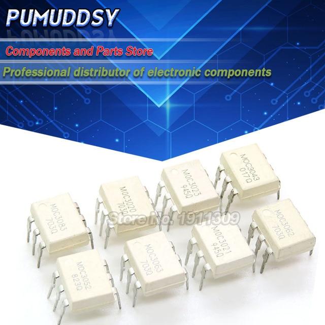 10PCS MOC3020 MOC3021 MOC3022 MOC3023 MOC3041 MOC3043 MOC3052 MOC3061 MOC3062 MOC3063 DIP6 DIP optocoupler new and IC