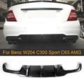 C Klasse Carbon faser Auto Auto Heckschürze Diffusor für Mercedes Benz W204 C63 AMG C300 Sport 2012 2014 hinten Diffusor Lip Spoiler|Stoßstangen|Kraftfahrzeuge und Motorräder -