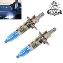 2Pcs HOD H1 12V 100W Cars Halogen Light Headlights Fog Light Bulb Auto 2400lm 6000k Halogen Lamp
