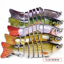 Buy Sinking Wobblers Fishing Lures 10cm 15.3g 6 Multi Jointed Swim bait Hard Artificial Bait Fishing Lure  Bass Crank bait directly from merchant!