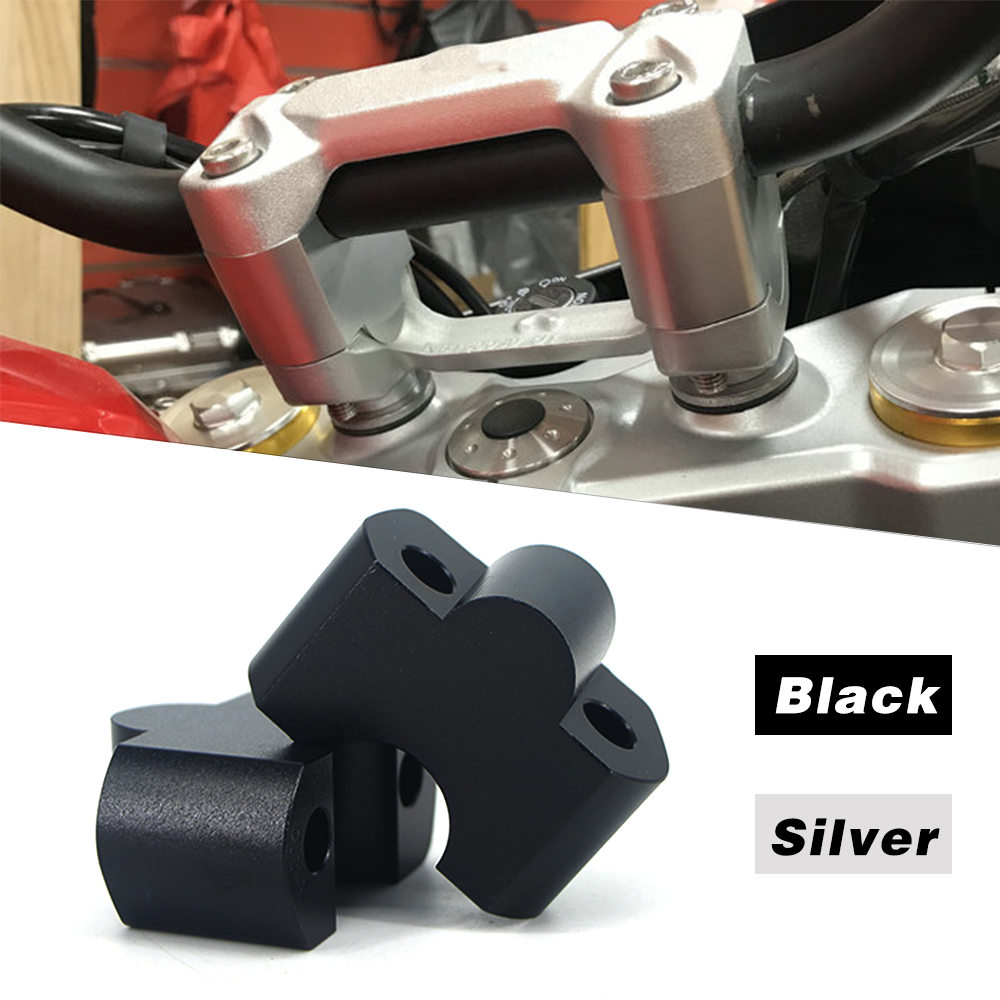 For BMW G310GS 2018-2019 CNC Offset HandleBar Risers Bar Mount Clamps Adapters