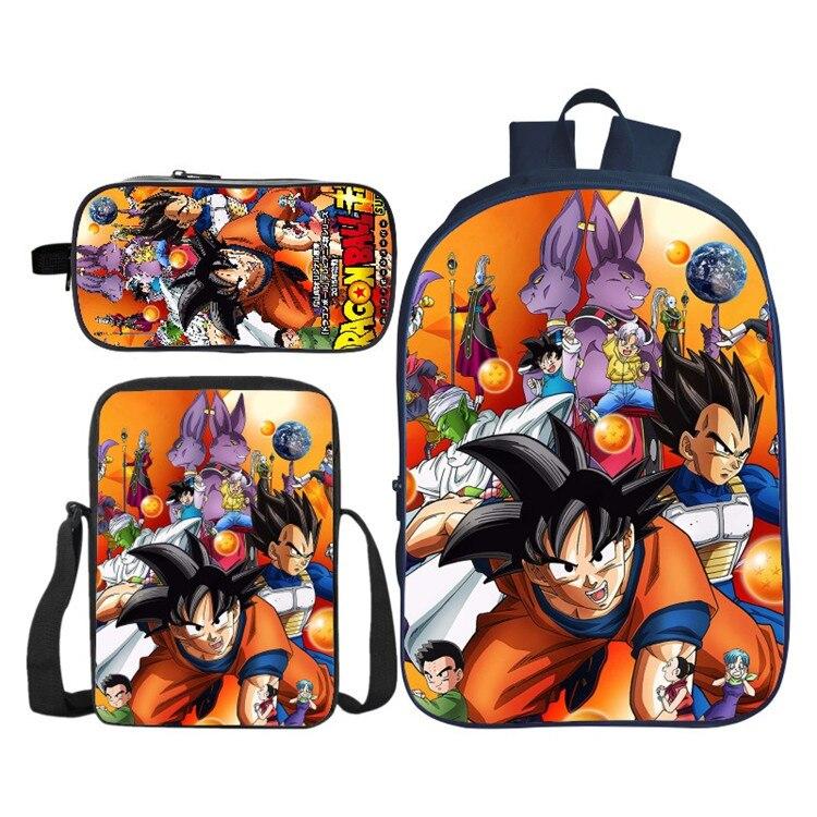 Dragon Ball Super Broly Backpack Pencil Case School Bags For Teenager Boys Girls Backpack 3Pcs/Sets Kids Travel Rucksack