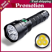 New C8f 21700 Version Powerful Led Flashlight Triple Reflector Cree Xpl 3500lm Super Bright Torch With 4 Groups Ramping