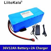¡Novedad de 2019! batería para bicicleta eléctrica LiitoKala de 36 V y 12 Ah con baterías de litio BMS de 20 a y 36 Voltios con batería Ebike de 2A de carga