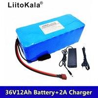 2019 새로운 liitokala 36 v 12ah 배터리 전기 자전거 리튬 배터리 내장 bms 20a 36 볼트 2a 충전 ebike 배터리