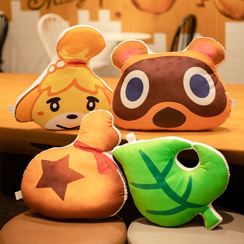 Animal Crossing Plush Toys Ichiban Kuji A Award Leaf Plush Pillow Banpresto Cushion Soft Stuff Doll Game Toys For Children Kids