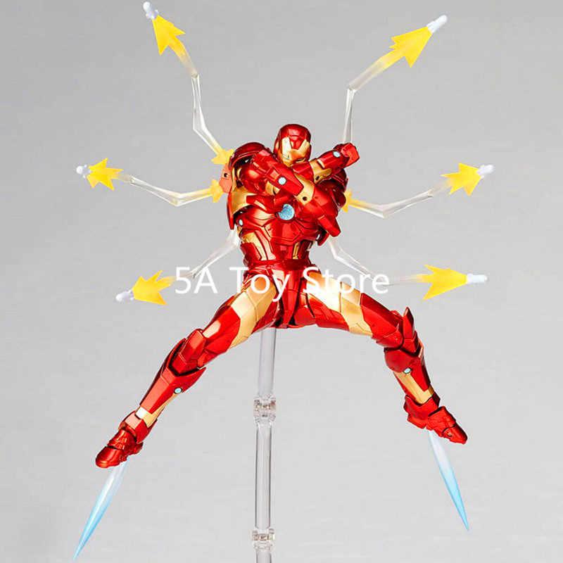 Inanılmaz Yamaguchi Revoltech Serisi No 013 Demir Adam MK37 Kanama Kenar Zırh PVC Action Figure Koleksiyon Model Oyuncaklar